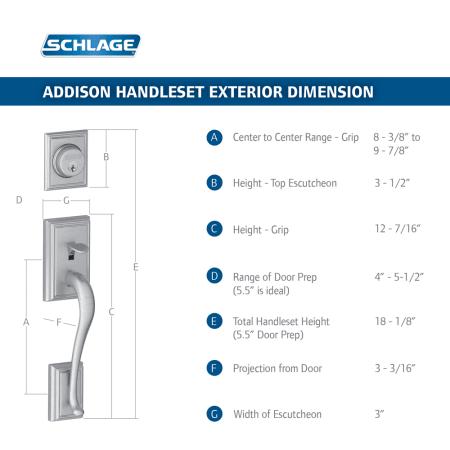 Schlage F58add621 Distressed Nickel Addison Single