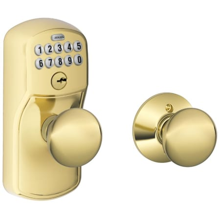 Schlage Fe575ply505ply Lifetime Polished Brass Plymouth