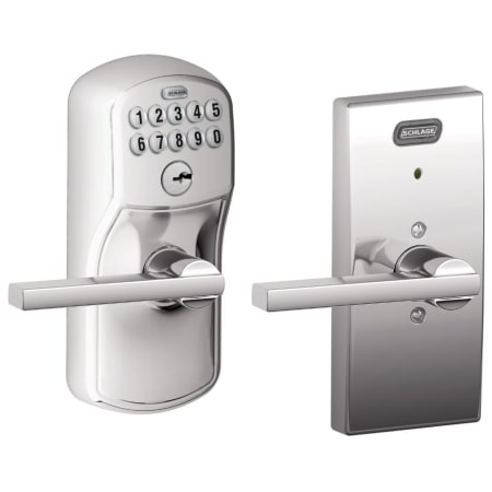 Schlage Fe576cen625lat Polished Chrome Century Built In