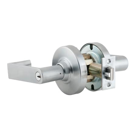 Satin Chrome Finish Storeroom Function Rhodes Lever Design Schlage Commercial ND80PDRHO626 ND Series Grade 1 Cylindrical Lock