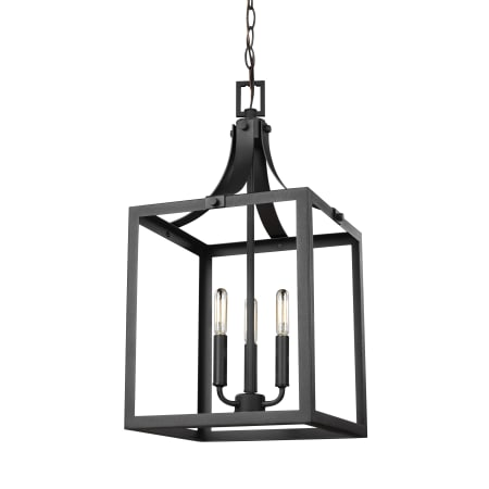 Sea gull lighting 5240603 12 black labette 3 light 12 wide cage sea gull lighting 5240603 publicscrutiny Choice Image