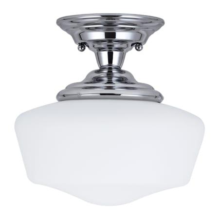 sea gull lighting 7743691s 05 chrome academy led 11 5 diameter