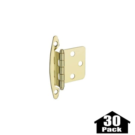 Stanley Home Designs BB8196AB 30PACK Antique Brass 2 75 Inch Flush  Non Spring Cabinet Hinge 30 Pack PullsDirect Com