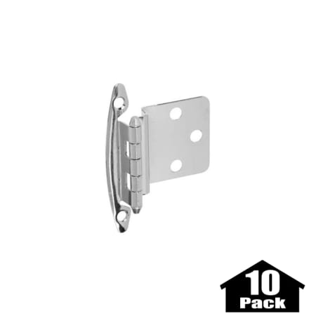 Stanley Home Designs BB8197AB 10PACK Antique Brass 2 75 Inch Non Spring  Cabinet Hinge With 375 Offset 10 Pack PullsDirect Com