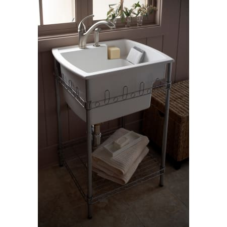Sterling 996 0 White Latitude 25 Quot Utility Sink With Stand