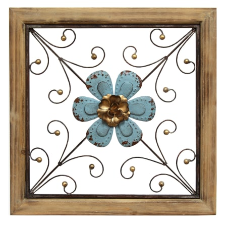 Stratton Home Decor S01882 N/A 14 1/4 Inch Square Flower Metal Wall ...