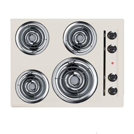 24 Four Burner 220v Electric Cooktop In Bisque