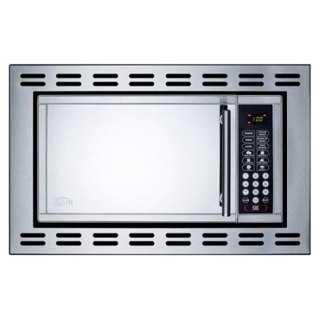 24 inch wide 0 9 cu ft 900 watt built in microwave for Built in microwave 24 inches wide