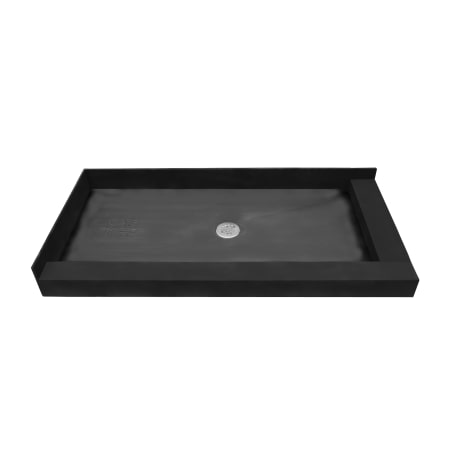 tile redi 3060cdr pvc black 30 x 60 corner shower pan with double curb and 2 center drain. Black Bedroom Furniture Sets. Home Design Ideas