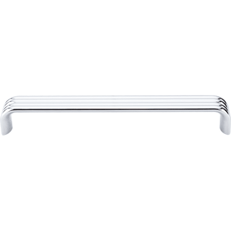 top knobs tk264pc polished chrome modern metro 7 inch center to