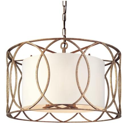 troy lighting f1285sg silver gold sausalito 5 light drum pendant