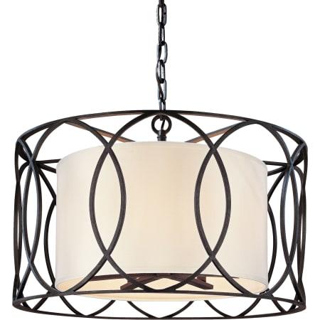 troy lighting f1285db deep bronze sausalito 5 light drum pendant