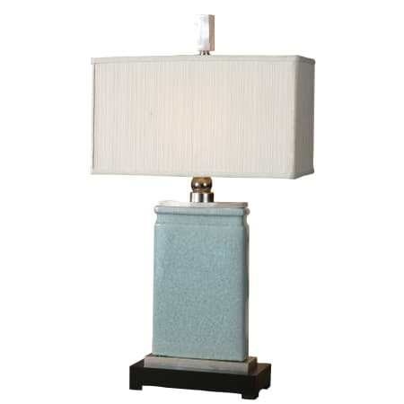 Uttermost 27752-1 Light Blue Crackled Porcelain With Nickel Plated Accents Azure Table Lamp ...