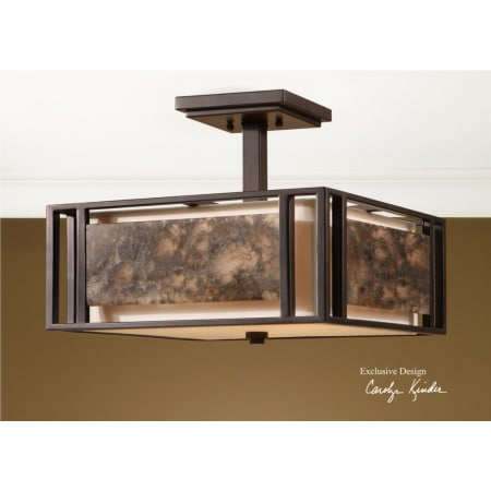 Uttermost 22268 Oil Rubbed Bronze Quarry 3 Light Semi