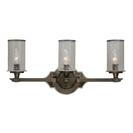 Vaxcel Lighting W0054 Venetian Bronze Simone 3 Light Bathroom Vanity Light Inches Wide