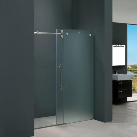 Vigo Vg6041chmt4874l Frosted Glass Chrome 48 Frameless Shower
