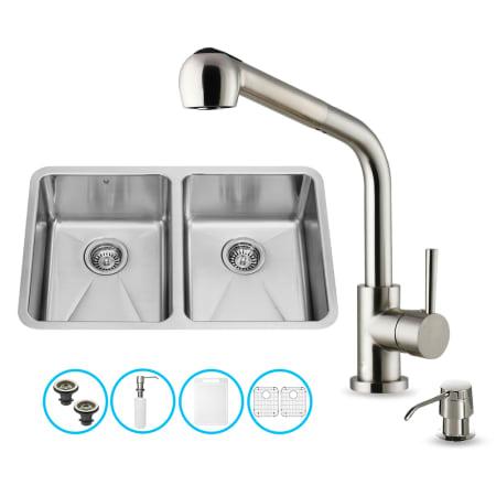 Vigo vg15234 stainless steel 29 1 4 double basin undermount kitchen sink with avondale - Vigo sink accessories ...