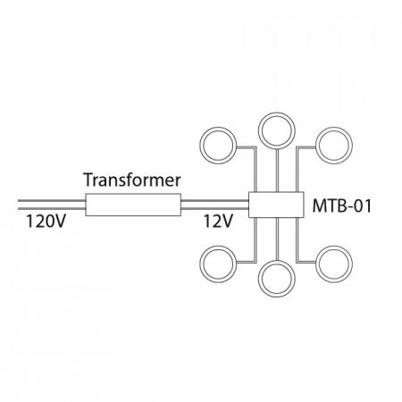 wac lighting wiring diagram landscape lighting wiring diagram wac lighting mtb-01 black 6 output wiring terminal block ... #11