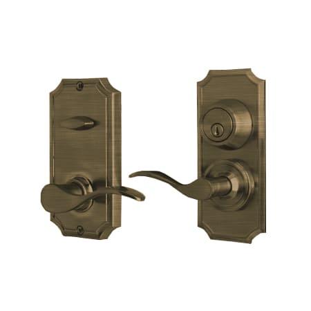 Weslock L1501uauasl2d Antique Brass Left Handed Unigard