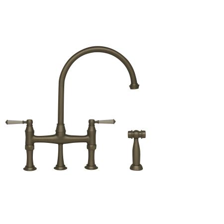 Whitehaus Kitchen Faucets | Whitehaus Whqnbp 34663 Bn Brushed Nickel Queenhaus High Arc Double