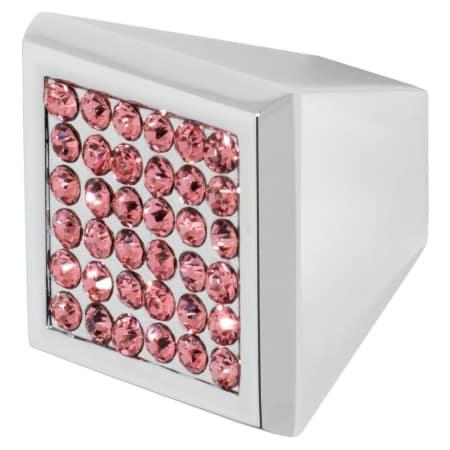 A large image of the Wisdom Stone 4202 Polished Chrome / Pink