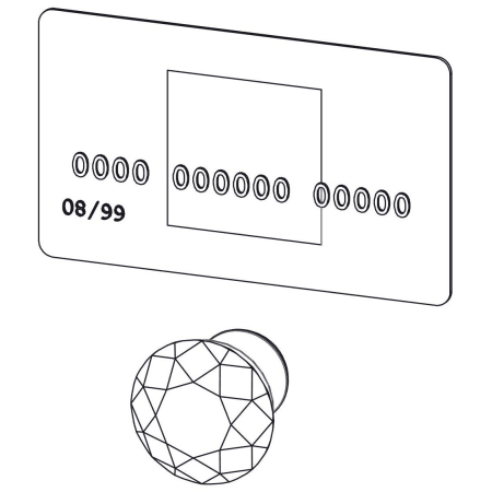 A large image of the Wisdom Stone 4223 Wisdom Stone-4223-Compared to a credit card