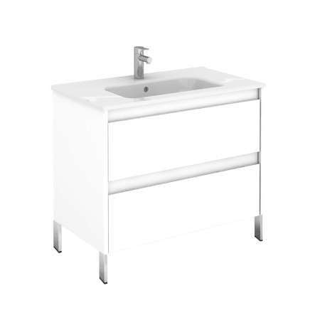 Ws Bath Collections Ambra 80f Wg Gloss White Ambra 32 Single Vanity Set With Engineered Wood Cabinet And Ceramic Vanity Top With Integrated Sink Faucetdirect Com