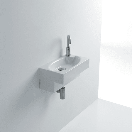 Ws Bath Collections Deca Wsb5501f White Deca 17 2 5 Ceramic Wall Mounted Bathroom Sink With Single Faucet Hole And Overflow Faucet Com