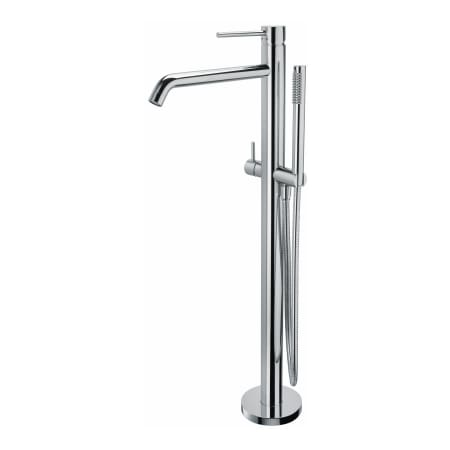 Ws Bath Collections Light Lig 032 Polished Chrome Floor Mounted