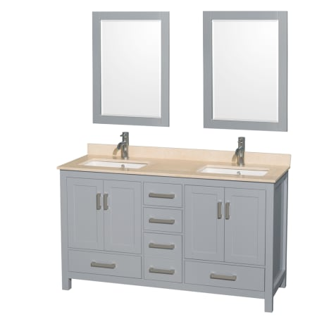 A Large Image Of The Wyndham Collection Wcs141460dunsm24 Gray Ivory Top