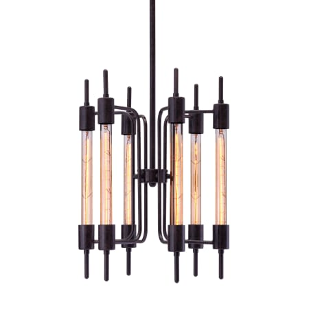 Zuo Modern 98419 Rust Gisborne 6 Light Pendant ...