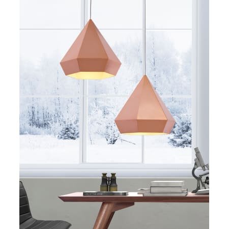 Zuo Modern 50174 Rose Gold Forecast 1 Light Pendant with ...
