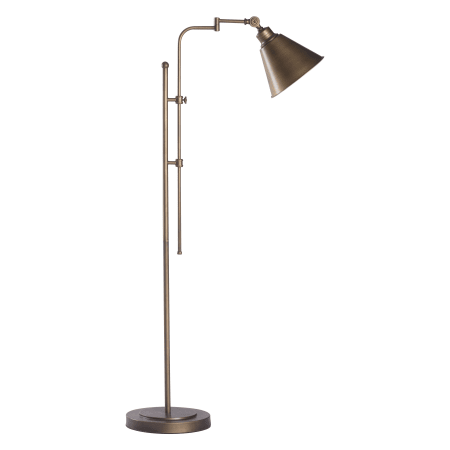 Zuo Modern 56005 Brushed Bronze Rush 1 Light Floor Lamp