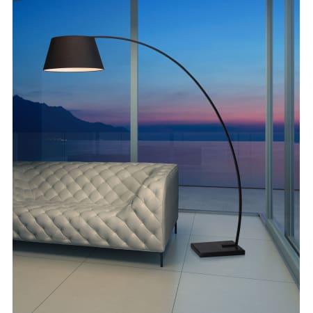 Zuo Modern 50074 Black Vortex 1 Light Floor Lamp With