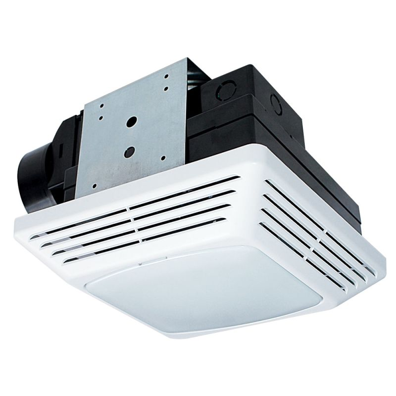 Air King BFQF70 White 70 CFM 2.0 Sone Energy Star Rated Exhaust Fan with Snap-In Installation and Fluorescent Light from the High Performance Collection ...