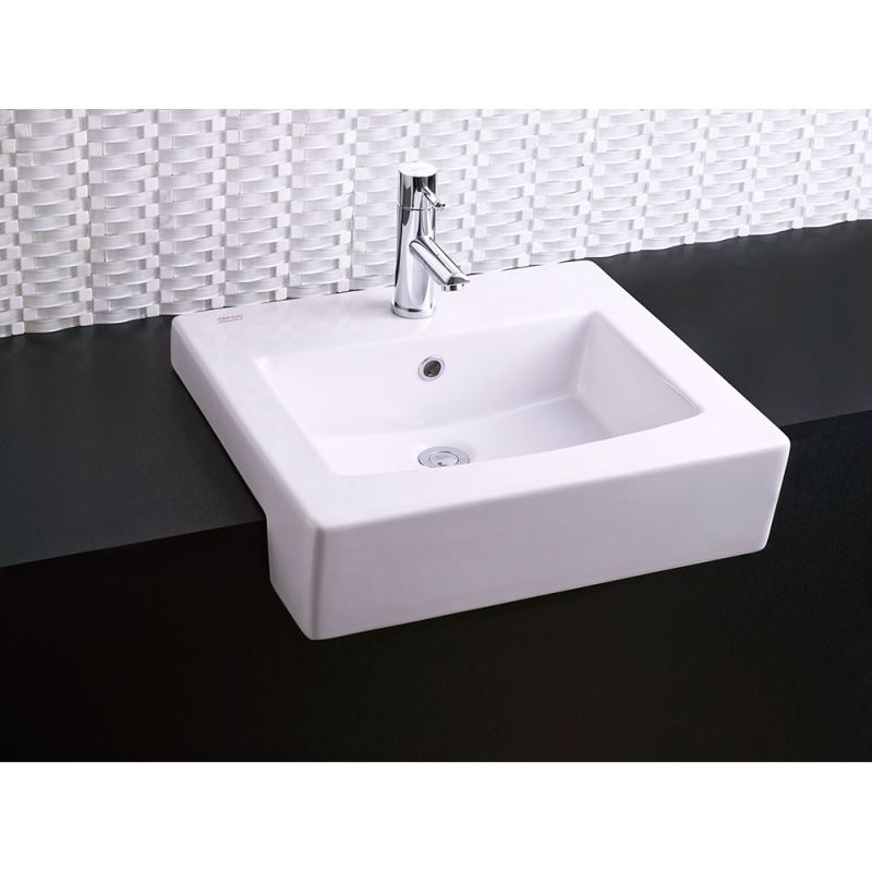 American Standard 0342 001 020 White Boxe 19 3 4 Drop In Fireclay Bathroom Sink With Single Hole Faucet Mount