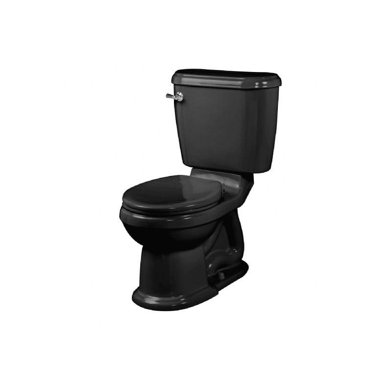 American Standard 2627.012.178 Black Oakmont Two-Piece Round Toilet ...