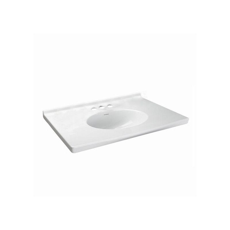 American Standard 7820.800.020 White Portsmouth Vanity Top Bathroom ...