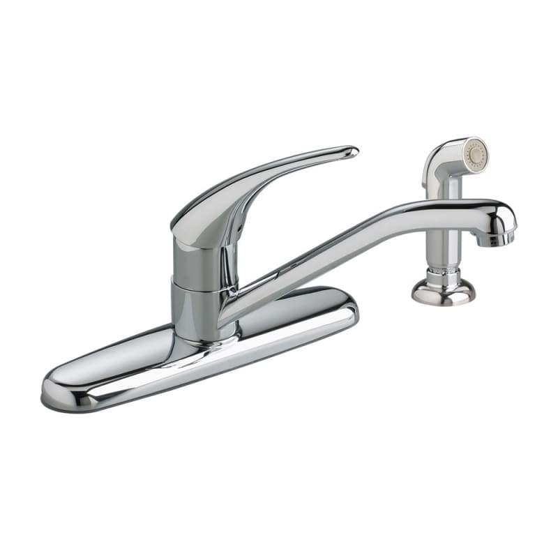 American Standard 8411F Polished Chrome Cadet Kitchen Faucet with ...