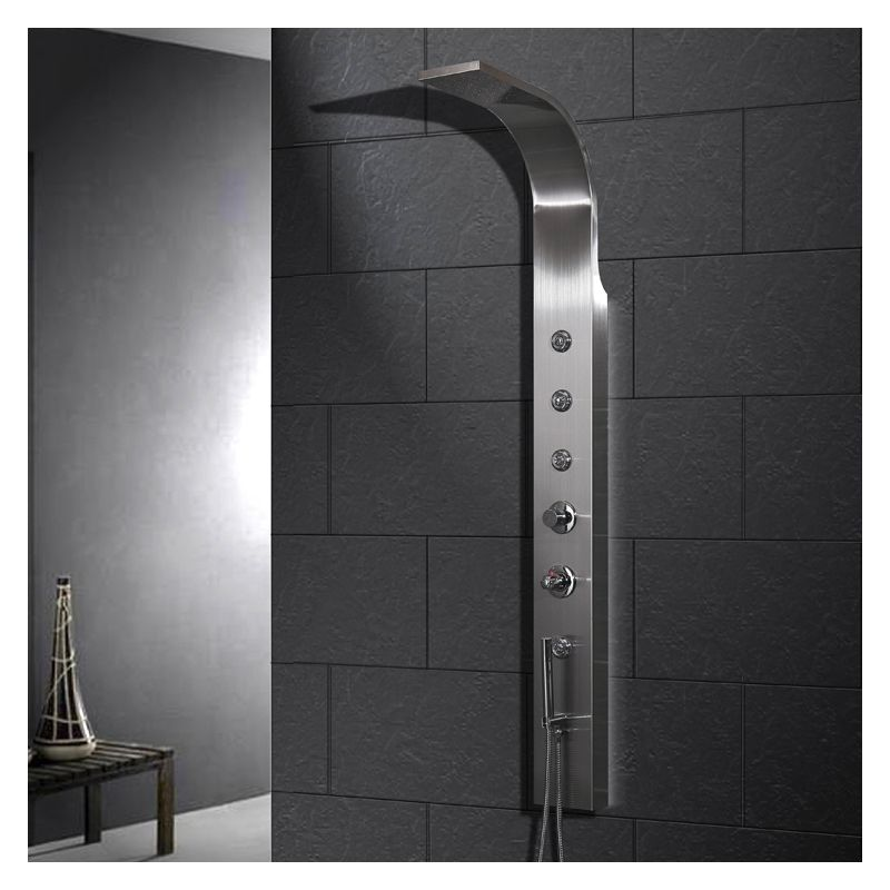Ariel A303 Stainless Steel 65 H X 6 1 2 W Shower Panel