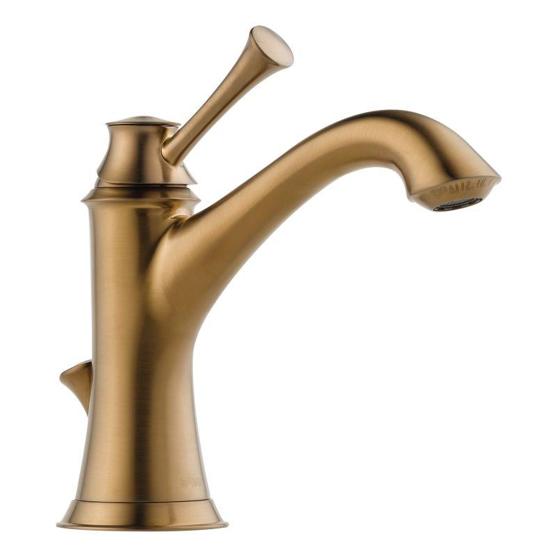 Brizo 65005LF-PC Chrome Baliza Single Hole Bathroom Faucet with Pop ...