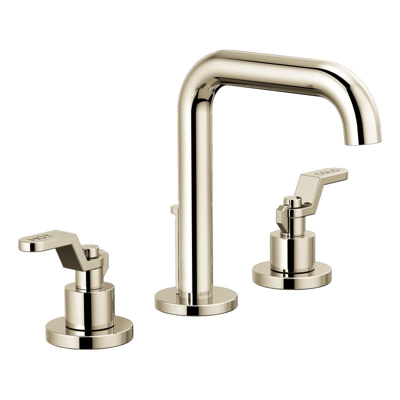 Brizo 65335lf Gllhp Eco Luxe Gold Litze 1 2 Gpm Widespread Bathroom Faucet With Drain Embly Less Handles
