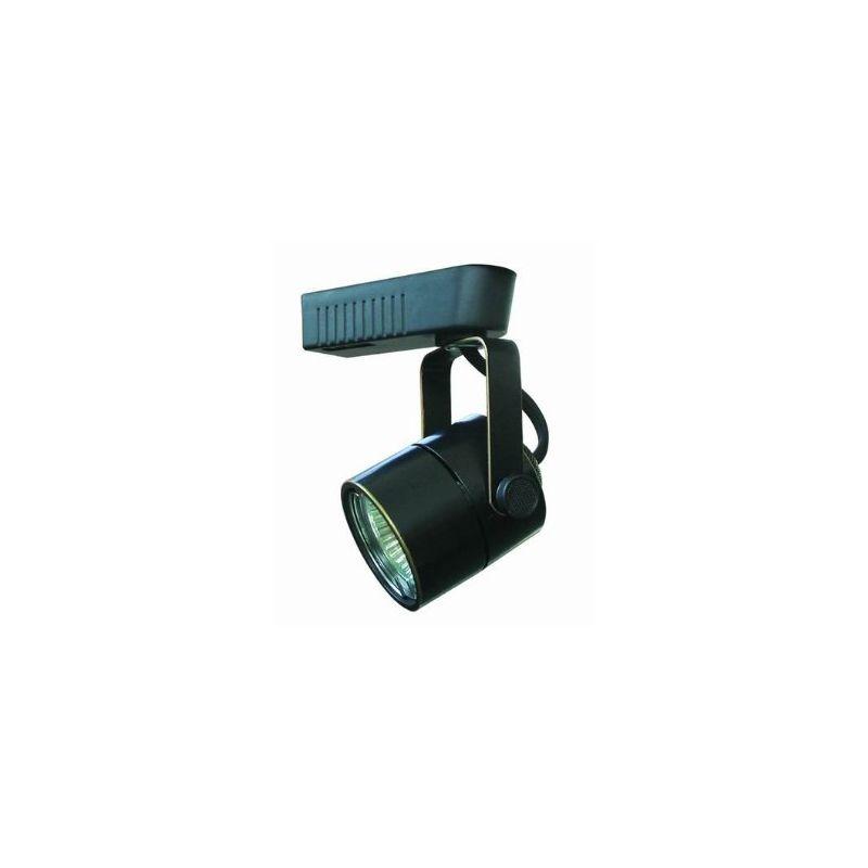 cal lighting ht258abk black 1 light adjustable mr16 track head for ht series track systems - Cal Lighting