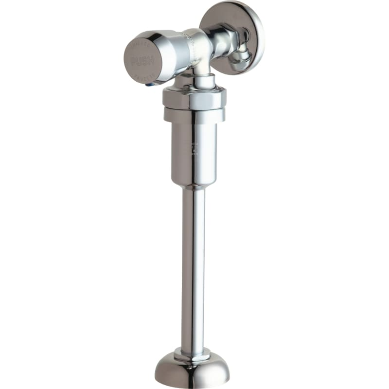 Chicago Faucets 732-VB665PSHCP Chrome Angle Urinal Valve with Push ...