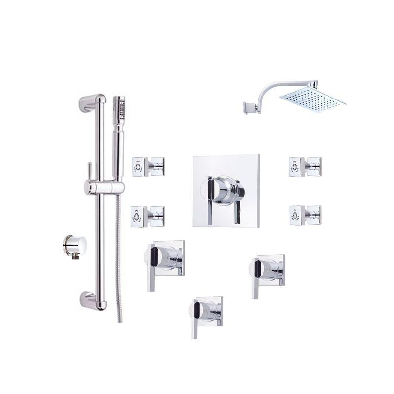 Danze Sirius Shower Bundle 1 Chrome Shower, Handshower, Bodysprays ...