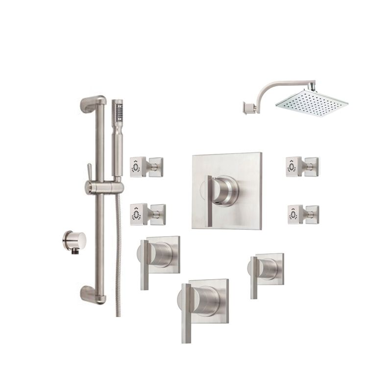 Danze Sirius Shower Bundle 1 BN Brushed Nickel Shower, Handshower,  Bodysprays, Thermostatic Valve Trim Combo From The Sirius Collection    Faucet.com