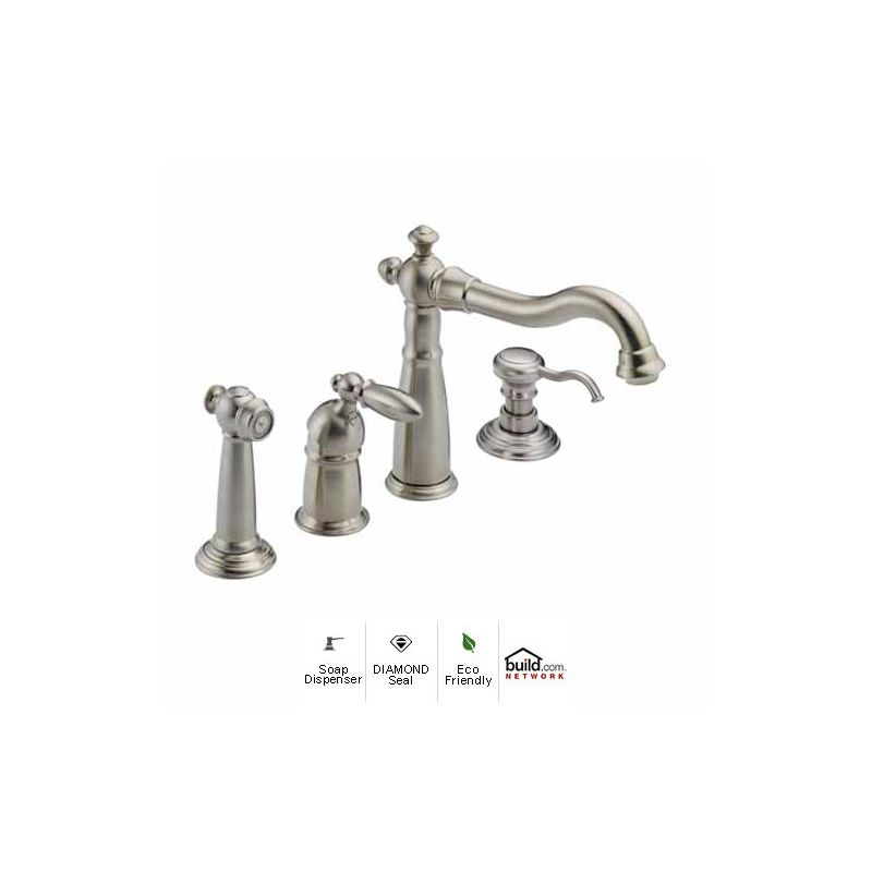 Delta SSDSTSD Brilliance Stainless Victorian Kitchen Faucet - Delta victorian kitchen faucet