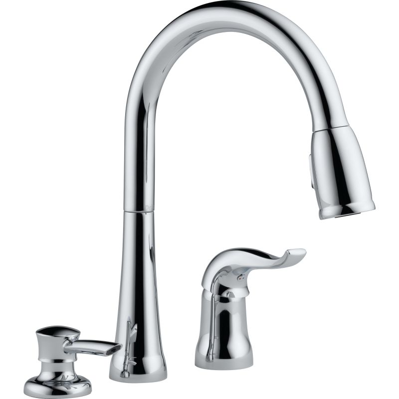 Delta 16970-SD-DST Chrome Kate Pullout Spray Kitchen Faucet with ...