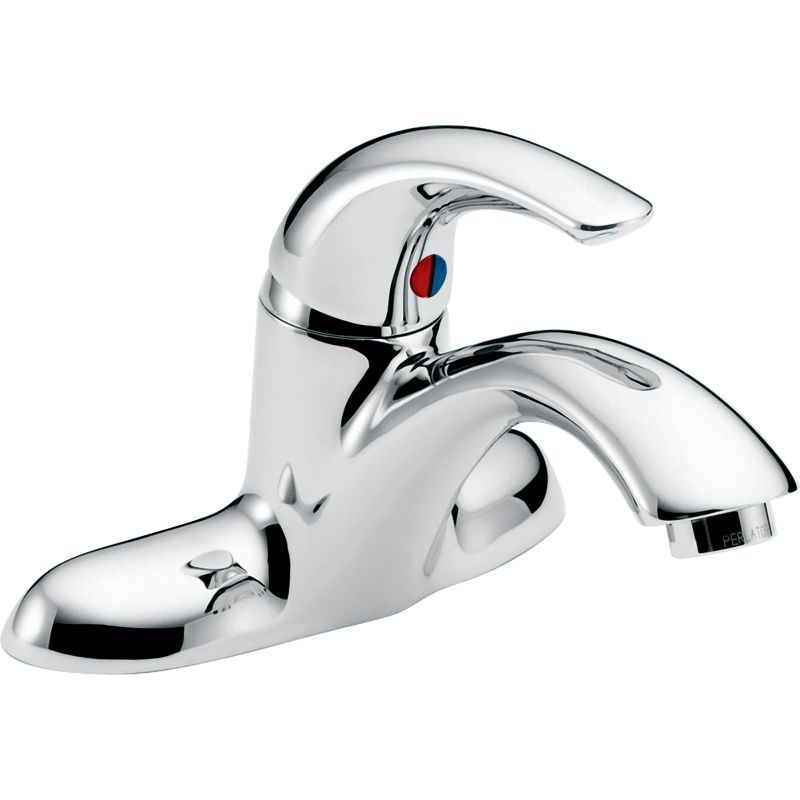 Delta 22C151 Chrome Single Handle 0.5GPM Bathroom Faucet With No Pop Up  Hole Less Pop Up Assembly From The Commercial Series   Faucet.com