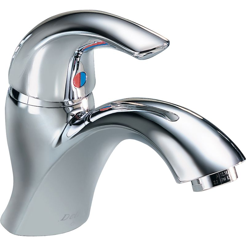 Delta 22C601 Chrome Single Handle 1.5GPM Single Hole Mount Bathroom ...